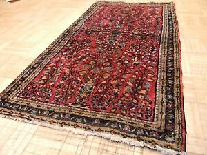 2 2x4 Persian Rug Sarouk Antique 1930 S Hand Knotted Oriental Fine 100 Wool