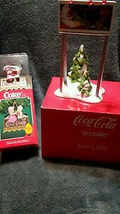 "Dept 56 Snow Village ""Coca Cola Billboard and ornament."
