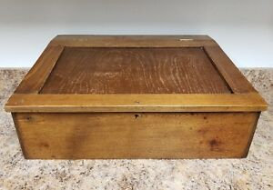 Antique General Store Counter Top Desk With Tucker Dorsey Cash Register Inside