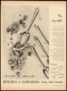 Holmes Edwards Sterling Inlaid Silverplate Vintage Ad Mccall S 1951 101611