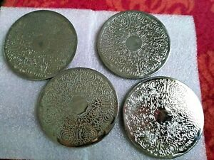 Silver Plated Coasters Set Of 4 Euc
