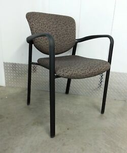 Haworth Improv Stacking Side Guest Reception Chair With Arms