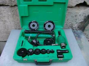 Greenlee 7310 1 2 To 4 Hydraulic Knock out Punch And Dies Set Works Fine 3
