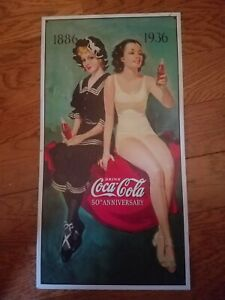 Coca cola 50th anniversary Bathers Meal Sign