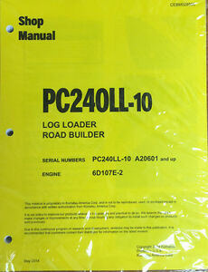 Komatsu Pc240ll 10 Hydraulic Excavator Repair And Service Manual