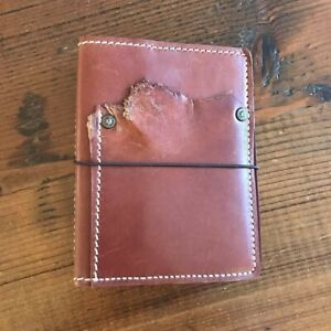 Speckled Fawns Retired Autumn Falls Leather A6 Traveler s Notebook With Extras