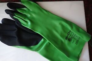 Lot Eleven 11 Pair Maxichem 14 Nitrile Coated Nylon Lycra Chemical Work Gloves