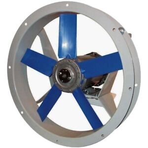 12 Flange Mounted Exhaust Fan 1150 Cfm 230 460 Volts 3 Ph 1 3 Hp Tefc