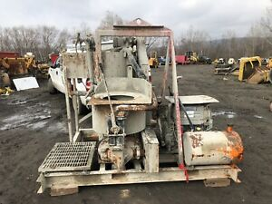 2007 Chemgrout High Shear Grout Pump Mixer With Deutz Engine