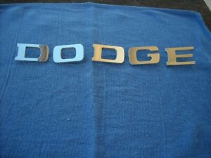 1961 1971 Dodge Power Wagon sweptline dodge Hood Emblem Letters