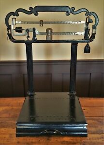 Antique Howe Platform Scale Cast Iron Vintage