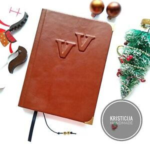 Personalised Notebook Handmade Genuine Leather Notepad diary planner A5 Preorder