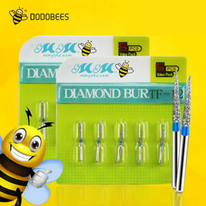 200 Pcs Dental Diamond Bur For High Speed Handpiece Turbine Burs You Choose Size