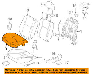 Scion Toyota Oem 14 16 Tc Front Seat Cushion Bottom Cover Right 7107121430b2