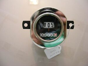 Model A Ford Speedo Stewart Warner Round Red Speed Pointer 1930 31 Speedometer