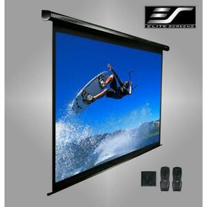 100 Electric Motorized Drop Down Projector Projection Screen W Ir Remote New