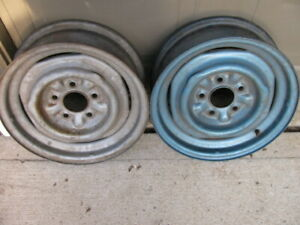 58 59 60 61 62 1958 1962 Corvette Wheel Rim Early Take Off Nice 2 Rims Original