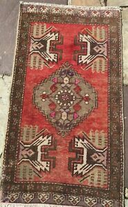 Turkish Oushak Wool Small Area Rug Hand Knotted 3 X 1 8 Free Shipping