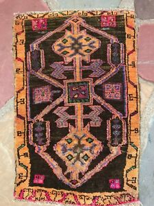Turkish Oushak Wool Small Area Rug Hand Knotted 2 5 X 1 7 Free Shipping