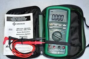 Greenlee Dm 820a True Rms Digital Multimeter 1000 Volt