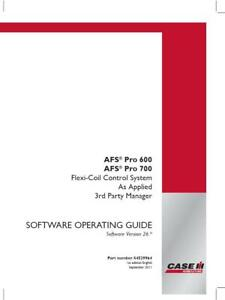Case Ih Afs Pro 600 700 Flexicoil Control System As Applied 3rd Party V26 Operat