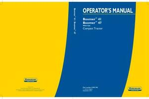 New Holland Boomer 41 47 Compact Tractor With Cab Operator s Manual
