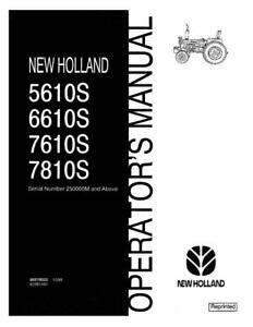 New Holland 5610s 6610s 7610s 7810s Om Sn250000 abv Operator s Manual