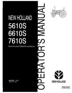New Holland 5610s 6610s 7610s Om Sn255857m Above Operator s Manual
