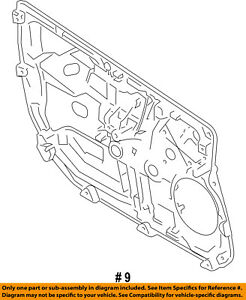 Ford Oem 11 13 Fiesta Front Door Carrier Right Ae8z54235a86a