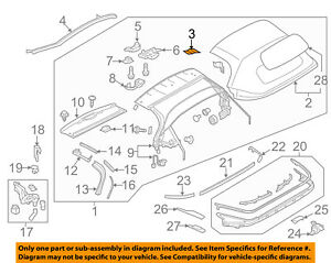 Mazda Oem 16 18 Mx 5 Miata Convertible Top Bracket Left N243r1992