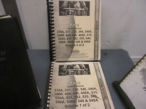 Ford Tractor Service Manual 230a 231 335 340 340a 340b 420 445 445