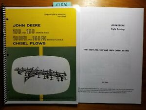 John Deere 100 150 Rigid 100fh 150fh Flexible Chisel Plow Operator Manual parts
