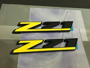 2 Pcs Abs Z71 Custom Sport Car Door Sticker Badge Emblems Universal Trunk Decals