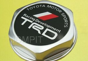 Authentic Japan Toyota Oil Cap Screw On Aluminum Trd Logo