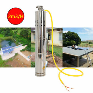Noiseless Solar Powered Submersible Deep Well Water Pump 2m h 110w 12v 18v Dc