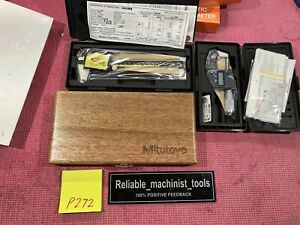 new Set Digital Mitutoyo 6in Caliper And 0 1 In Outside Micrometer Ip65 p272