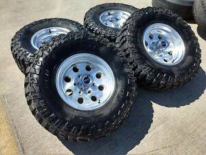 15x8 American Racing Tacoma Chevy Chrome 18 Wheels Rims 32 Tires 6x139 6x5 5