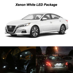11x White Led Interior Package License Plate Lights For 2019 2020 Nissan Altima