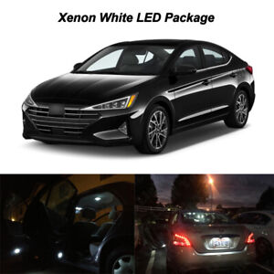 10x White Led Interior Bulb Reverse License Plate Light For 2019 Hyundai Elantra