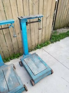 4 Vintage Antique Fairbanks Feed Store Platform Scale Feed Scale