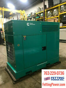 New 25kw Cummins Stationary Diesel Generator Dskca 120 240v S n L14077292