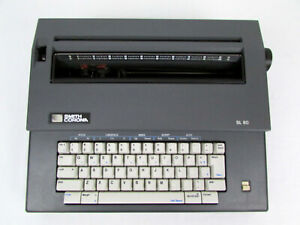 Smith Corona Sl 80 Gray Electric Word Processor Typewriter For Parts Not Working