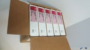 Lot Of 5 Staples Colored Reinforced Tab Fastener Folders Letter Assorted 50 box