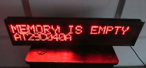 Grandwell Industries Led Programmable Scrolling Message Sign Banner W No Remote