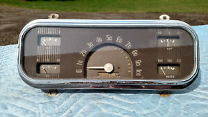 Rare Vintage 1937 Chevy Master Deluxe Sport Coupe Spedometer Dash Cluster Gm