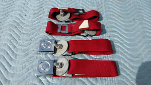 Rare Vintage 1967 Sears Nos Red Seat Belts Chevy Ford Dodge Buick Pontiac Gmc