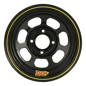 Aero Race Wheels 30 series 13x8 2in Bs 4x4 25 Steel Black