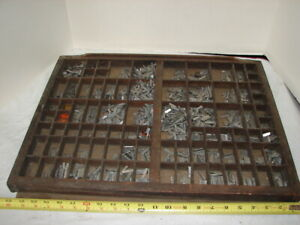 Vintage Lot Letterpress Print Type Set Linotype Lead Block Letters