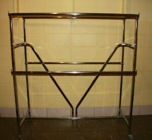 Used Commercial Grade Heavy duty V brace Four Bar Rack With Casters