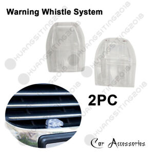 2x Transparent 2 Holes Safety For Driver Auto Car Deer And Animal Whistle Alertd